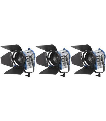 Video Light Pack 3 x Tungsten Fresnel 1000W