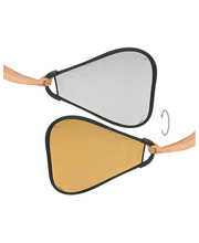 Reflector 2in1 silver / gold with handle