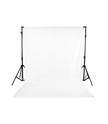 White Studio Backdrop 3x6 m