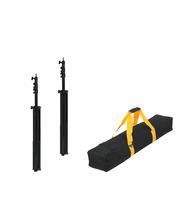 Pack: 2 x Light Stand 260 cm + Transport Bag